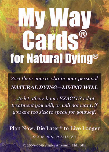 My Way Cards for Natural Dying - Cover