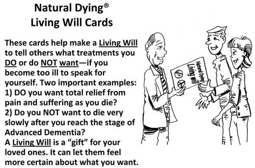 Natural Dying Living Will Cards